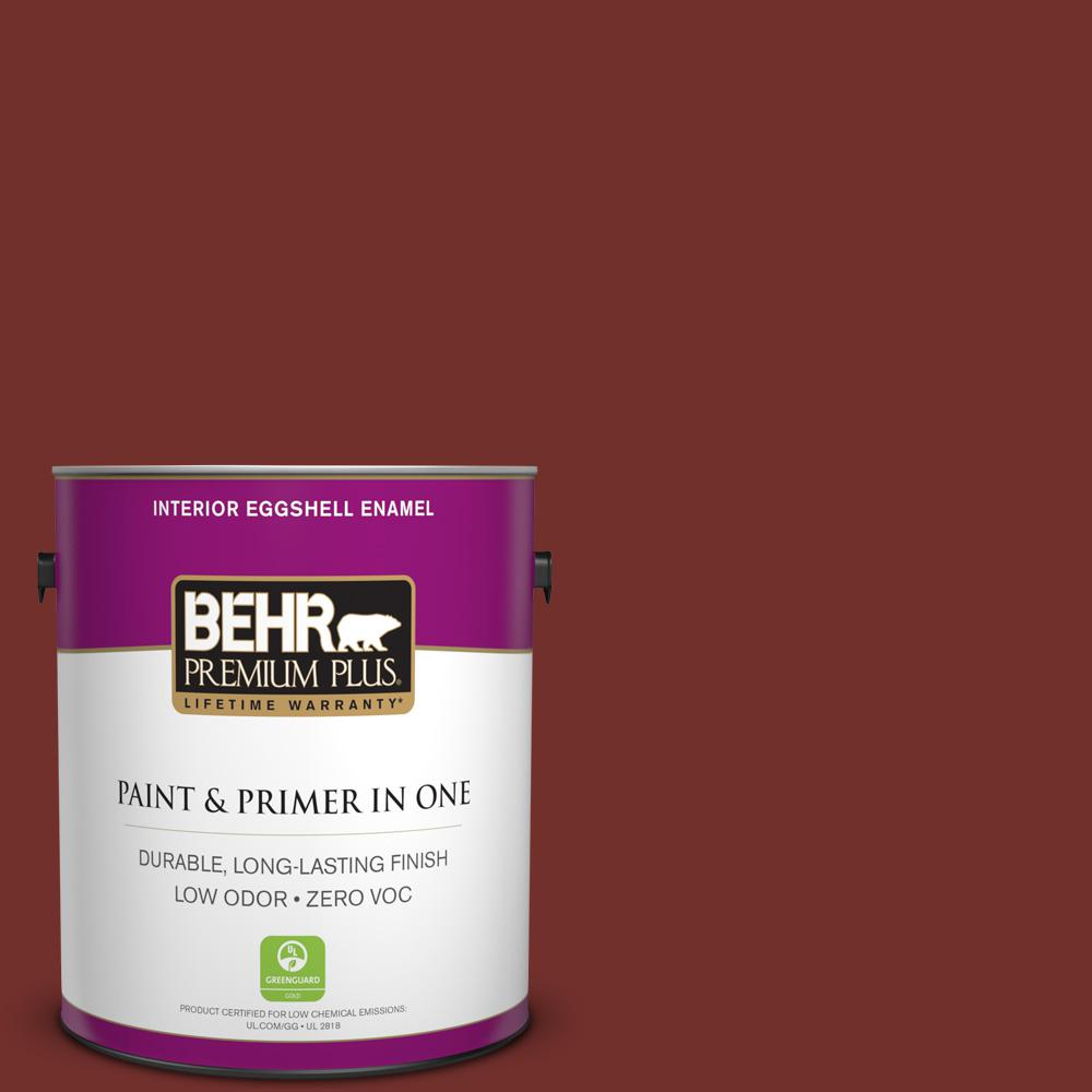1-gal. #BXC-76 Florence Red Eggshell Enamel Interior Paint