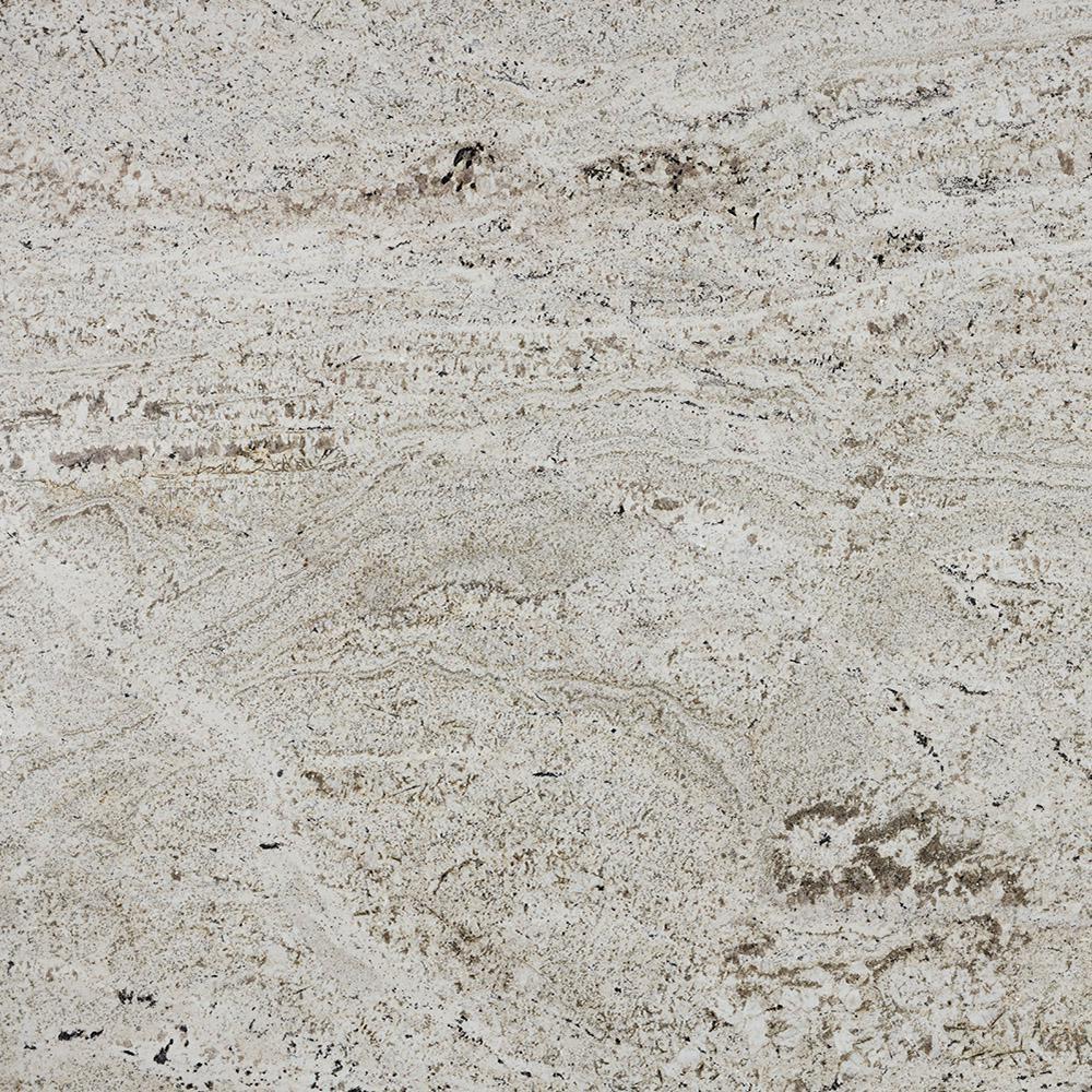 3 in. x 3 in. Granite Countertop Sample in White Knight