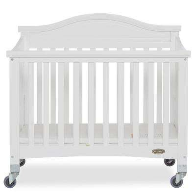 Venice White Folding Portable Crib