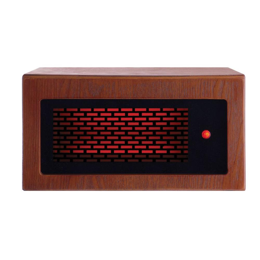 American Comfort Mini 1200-Watt Solid Wood Personal PTC & Infrared Portable Heater - Tuscan