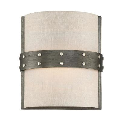 Garrett 1-Light Weathered Iron Interior Wall Sconce