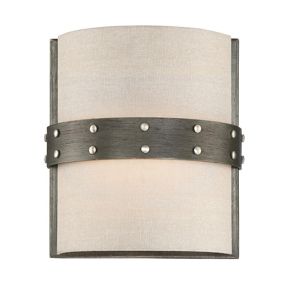 Garrett 1-Light Weathered Iron Interior Wall Sconce