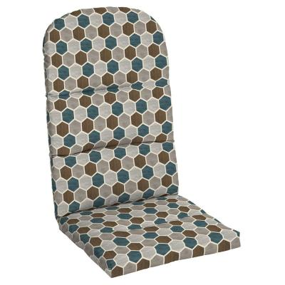 20.5 in. x 31 in. Charleston Hex Outdoor Adirondack Chair Cushion