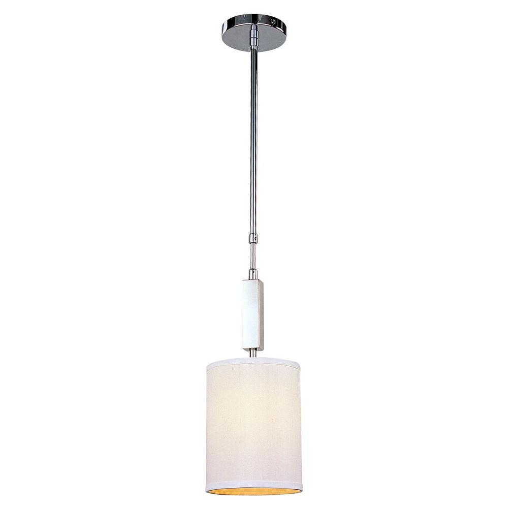 Filament Design Lawrence 1-Light Polished Stainless Steel Incandescent Ceiling Mini Pendant