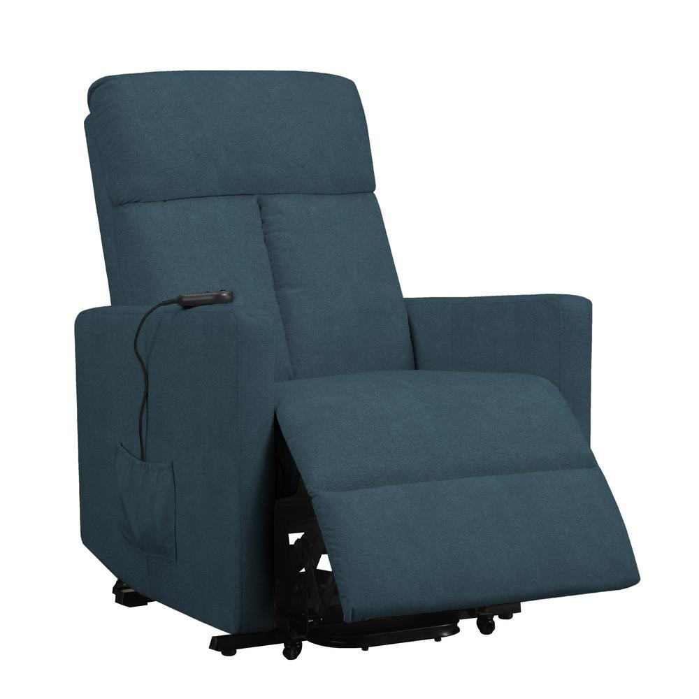 ProLounger Medium Blue Microfiber Power Lift Chair Recliner