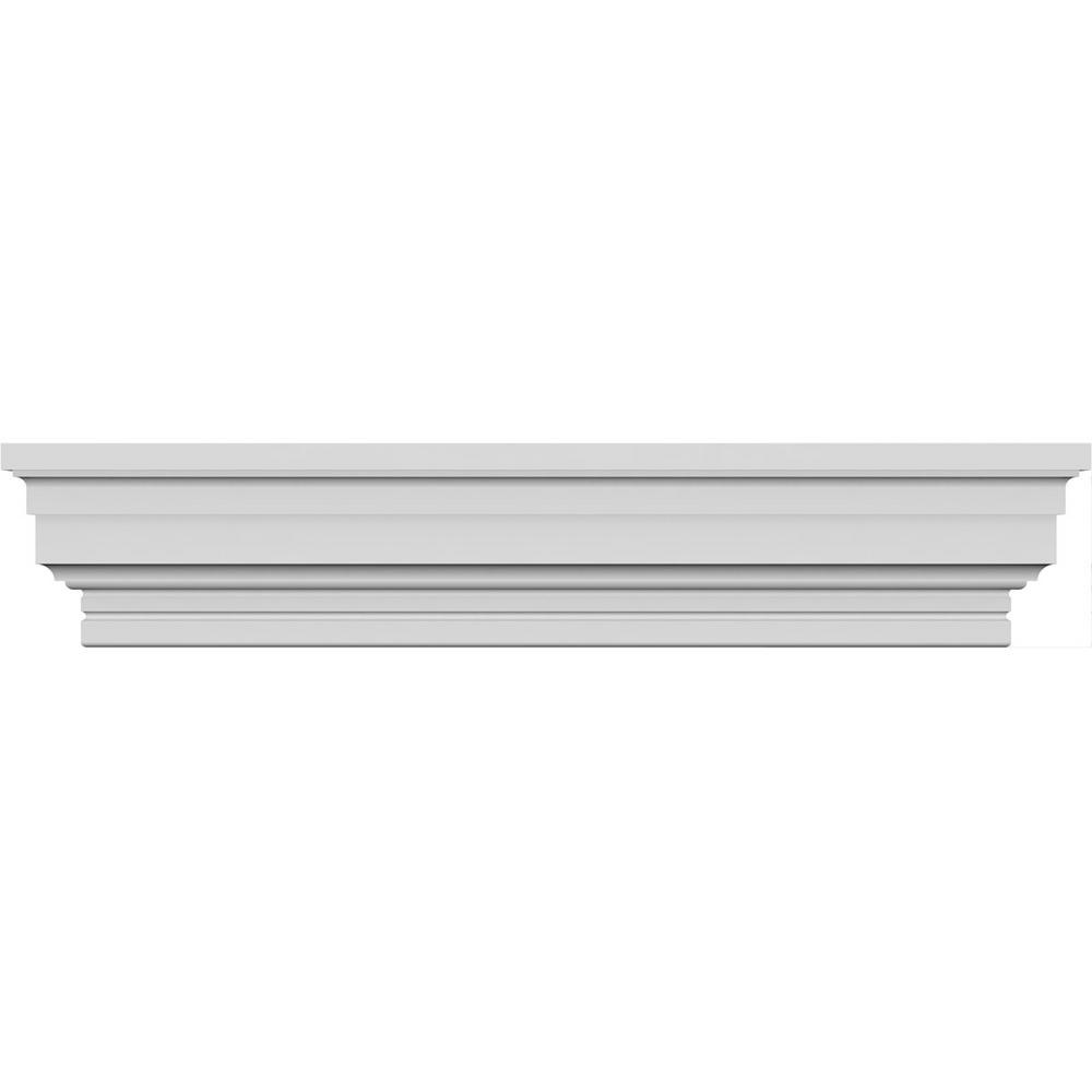 Ekena Millwork 1 4 In X 71 In X 3 7 8 In Polyurethane Standard Crosshead Moulding Crh04x71st The Home Depot