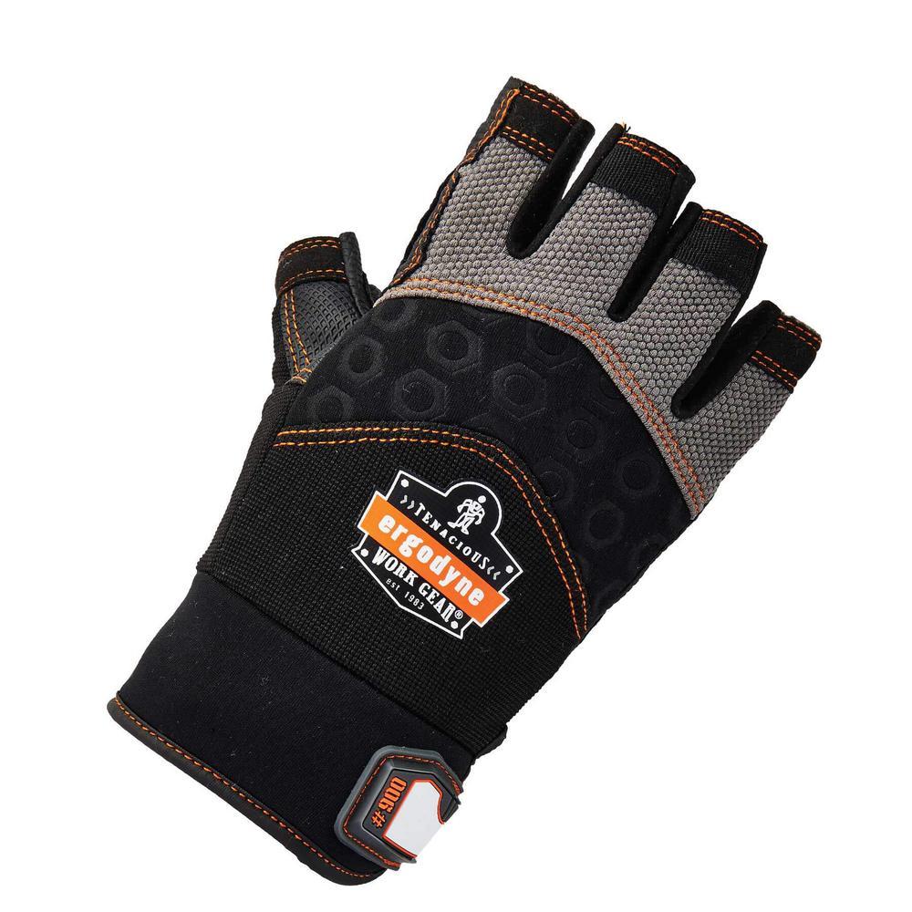 ProFlex XX-Large Half-Finger Impact Work Gloves
