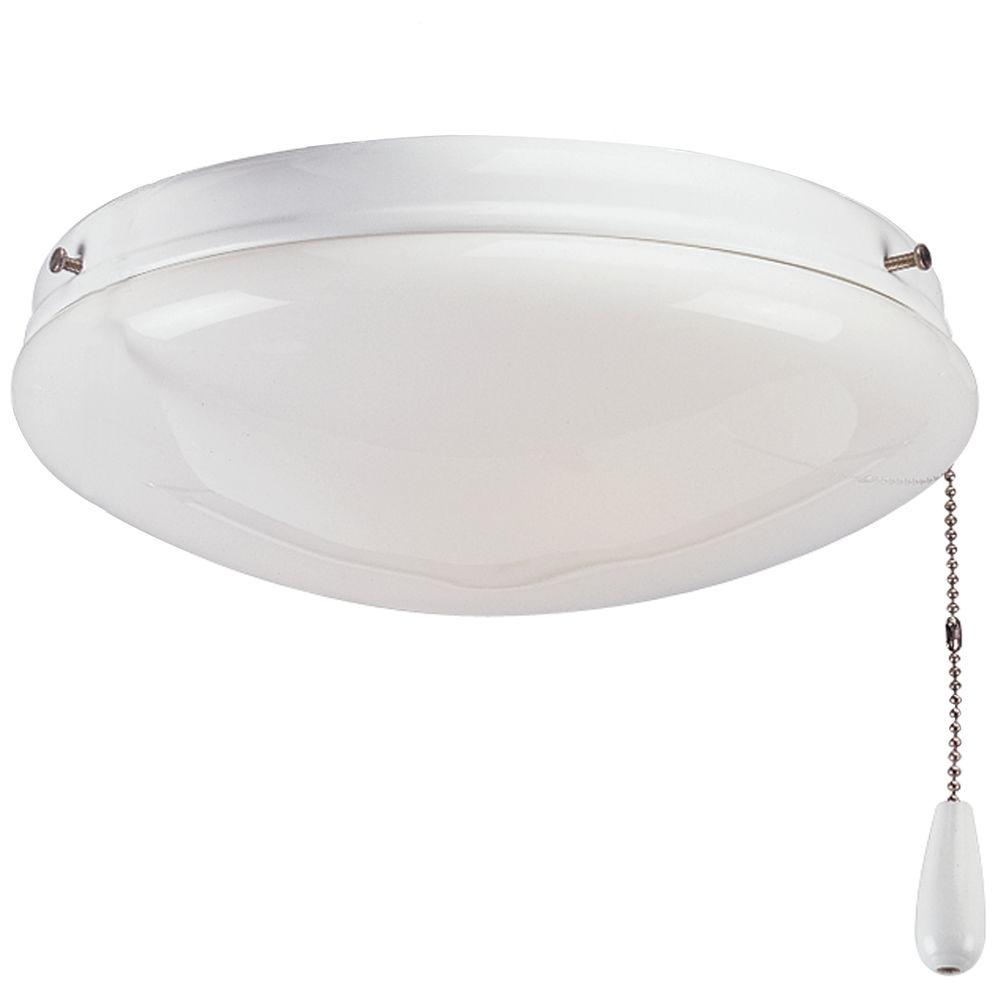 Progress Lighting AirPro 2-Light White Ceiling Fan Light