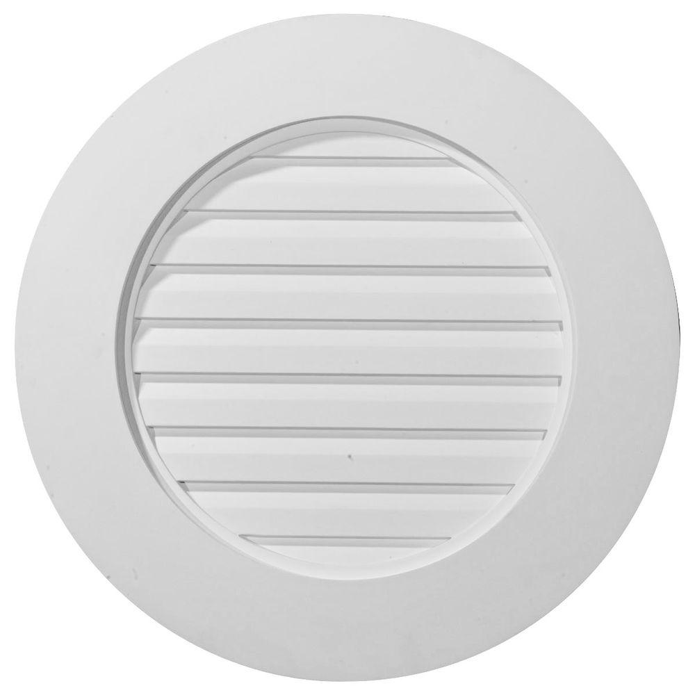 Ekena Millwork 1-1/2 in. x 23 in. x 23 in. Functional Round Gable Vent