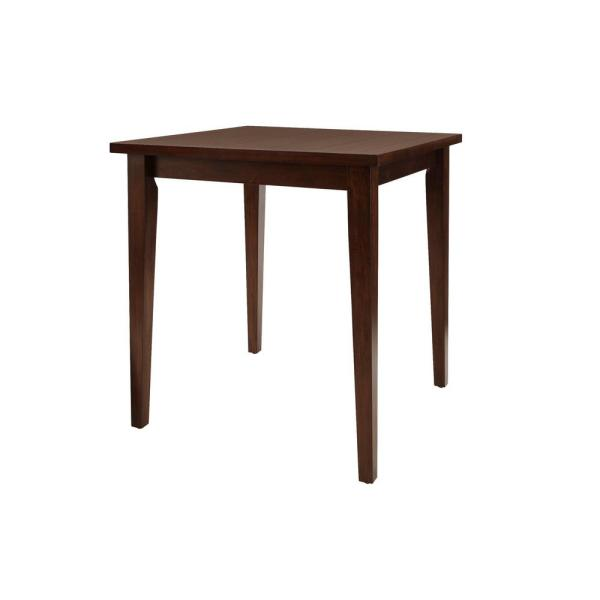 StyleWell Chocolate Finish Wood Square Bar Table for 4 (36 in. D x 36 in. H)