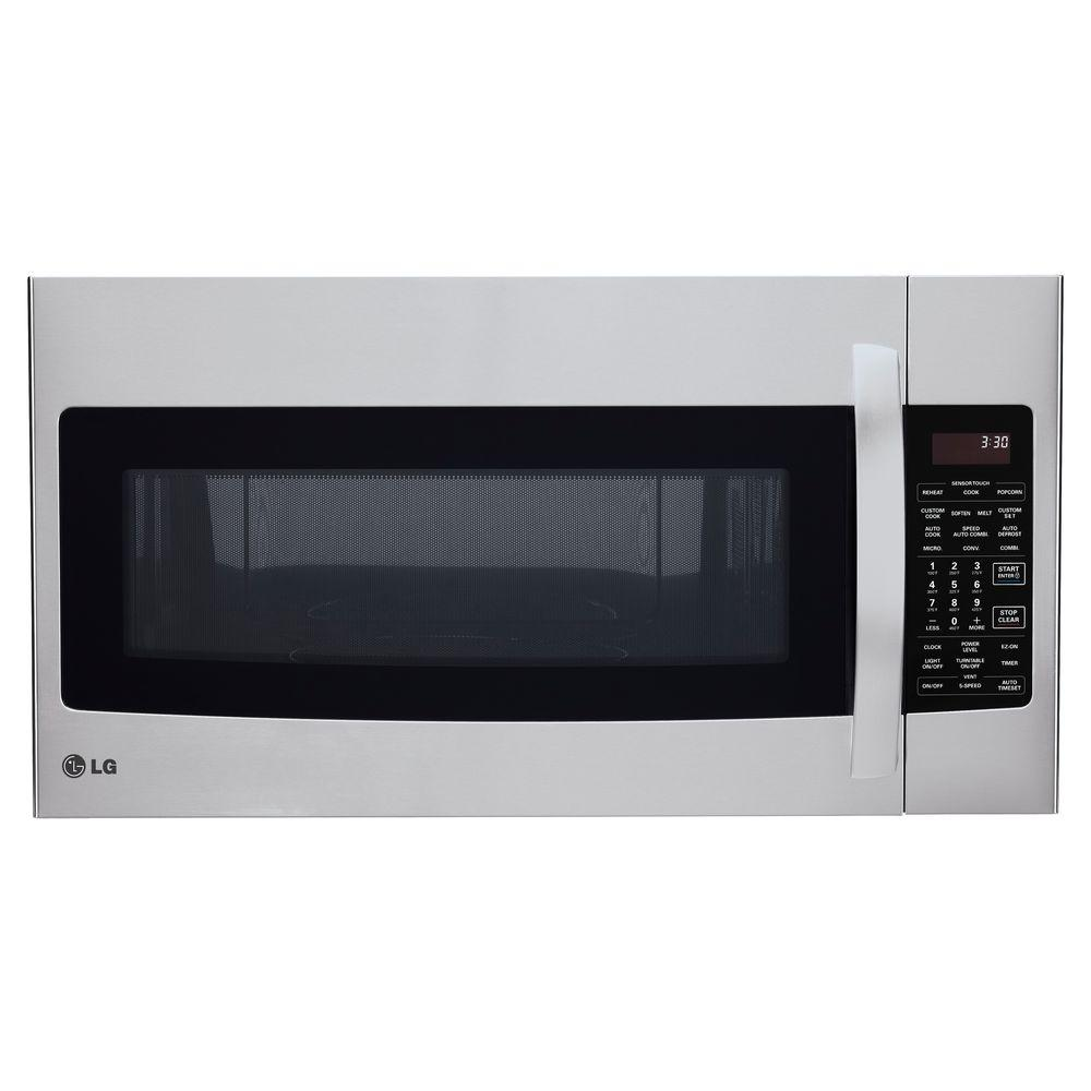 lg electronics 1 7 cu ft over the range convection microwave in stainless steel lmvh1711st. Black Bedroom Furniture Sets. Home Design Ideas