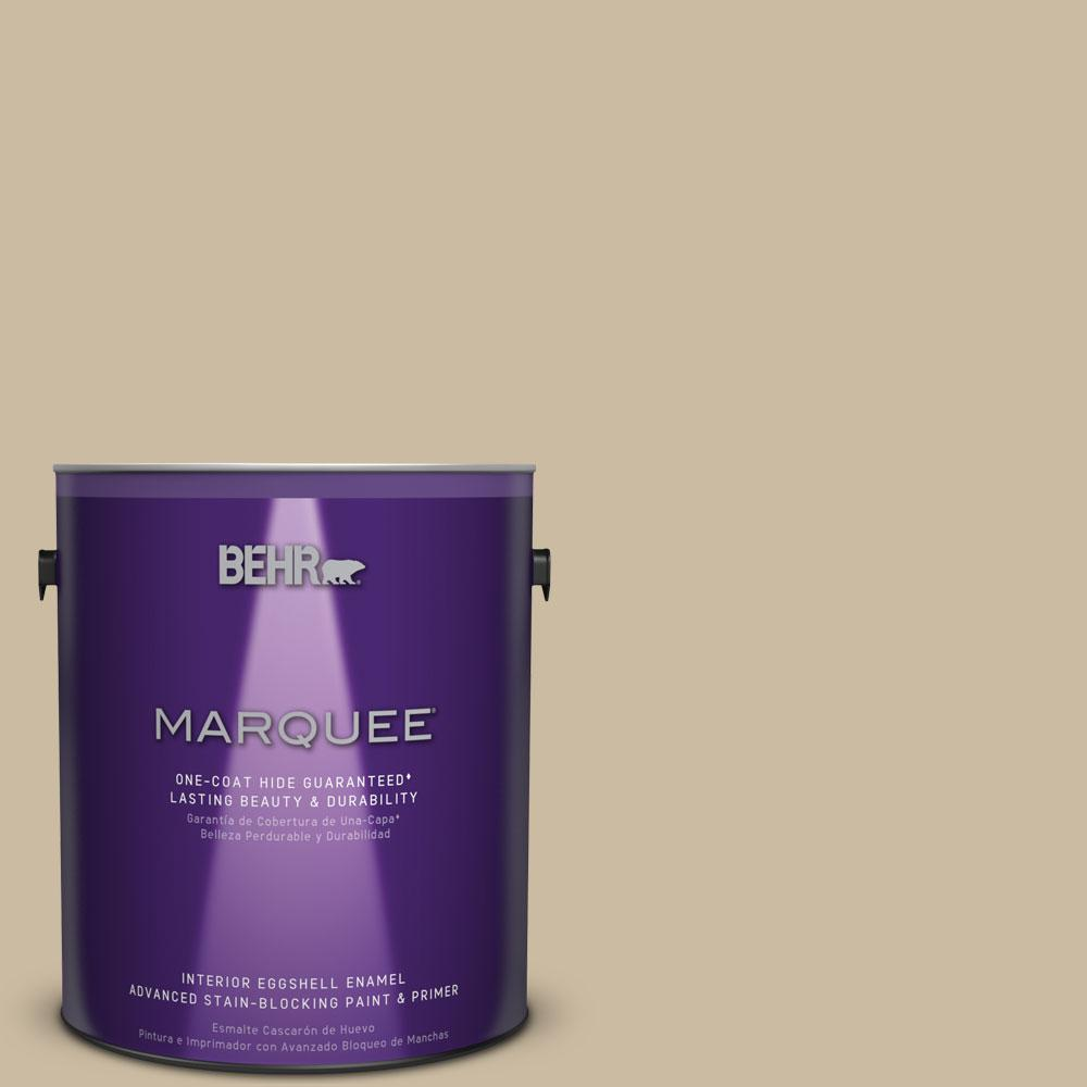 1 gal. #MQ2-26 Windsor Tan One-Coat Hide Eggshell Enamel Interior Paint