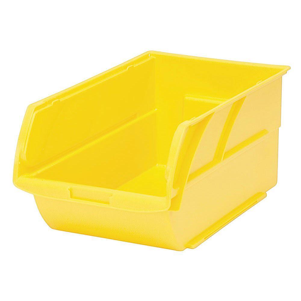 Superieur Stackable Storage Bin, Yellow