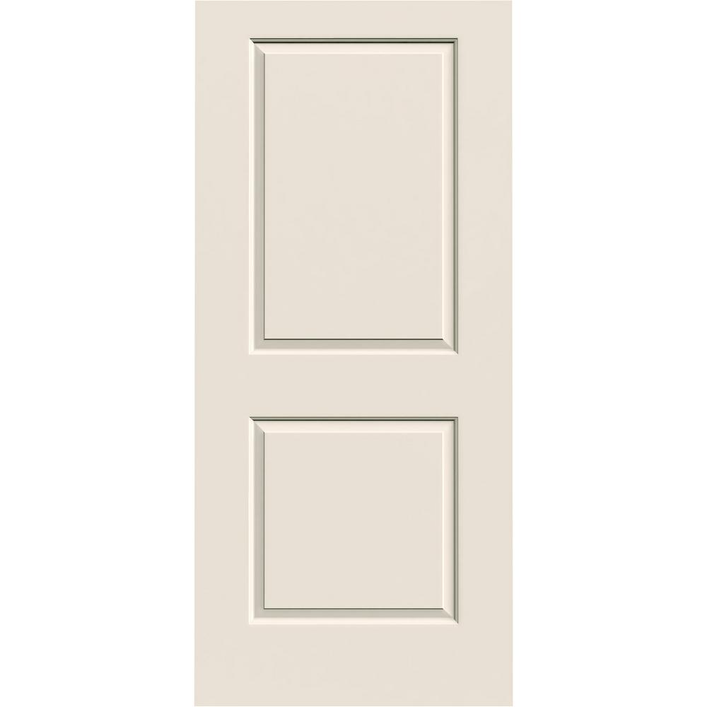 JELD WEN 36 In. X 80 In. Cambridge Primed Smooth Solid Core Molded