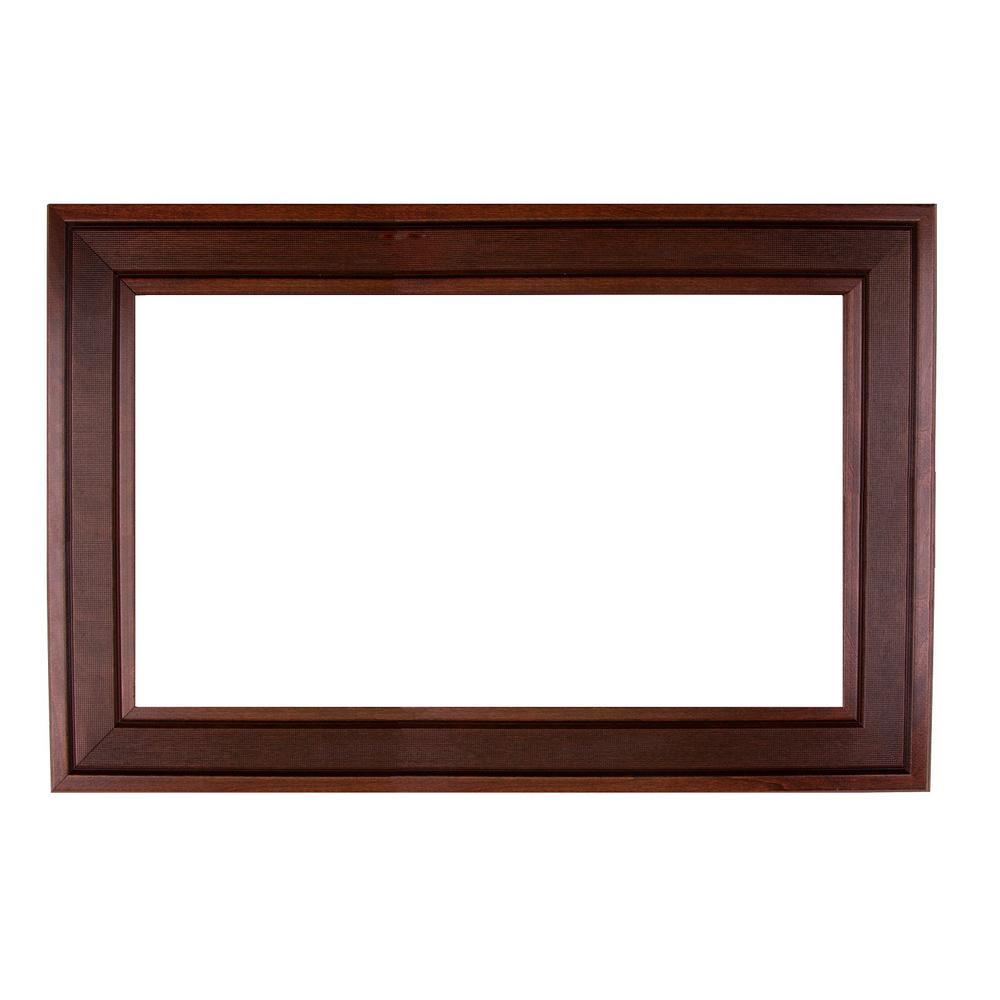 Tuxedo 48 in. x 36 in. Mirror Frame Kit in Walnut - Mirror Not Included