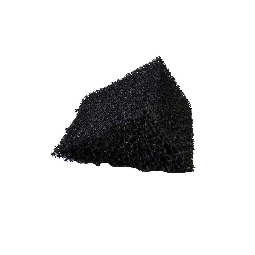 4 ft. 5K Style Inserts Black Foam Wedge Gutter Guard (8-Box)