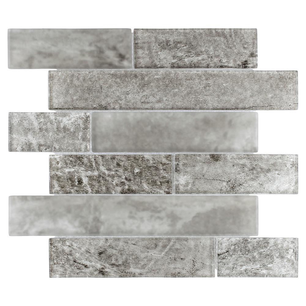 Merola Tile Igloo Panel Smoke 11-5/8 in. x 11-3/4 in. x 9 mm Glass Mosaic Tile