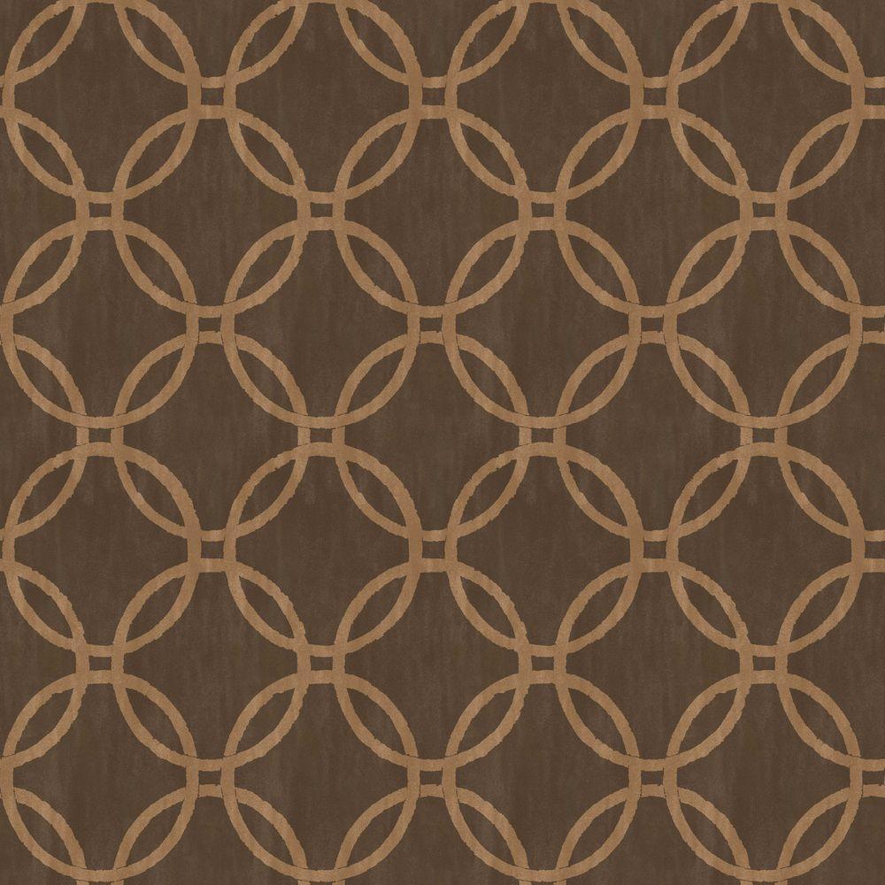 Beacon House Ecliptic Brown Geometric Wallpaper Sample