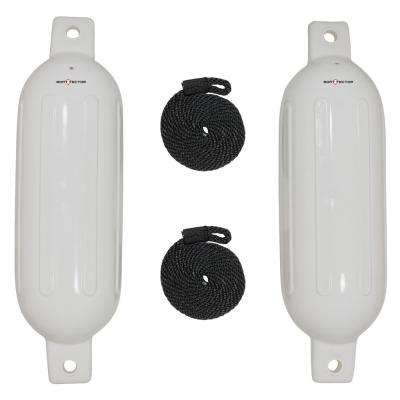 Fender Value Pack 2-Fenders with 2-Dock Lines in White