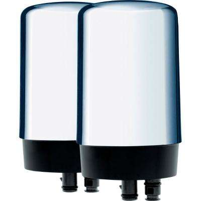 Chrome Faucet Replacement Water Filter Cartridge (2-Pack)