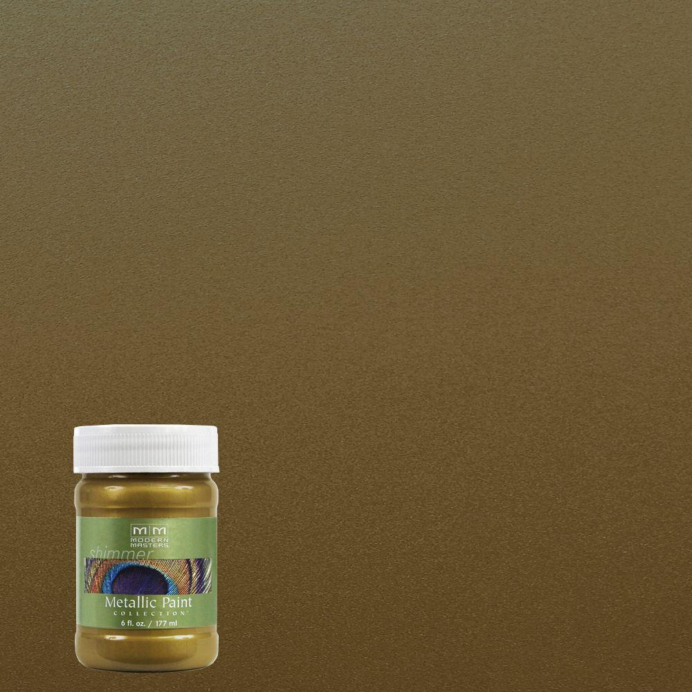 6 oz. Green Gold Water-Based Satin Metallic Interior/Exterior Paint