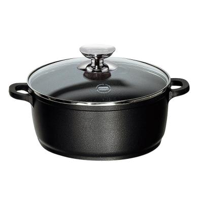 Vario Click 8.5 in. /2.5 Qt. Induction Round Dutch Oven with Lid Black