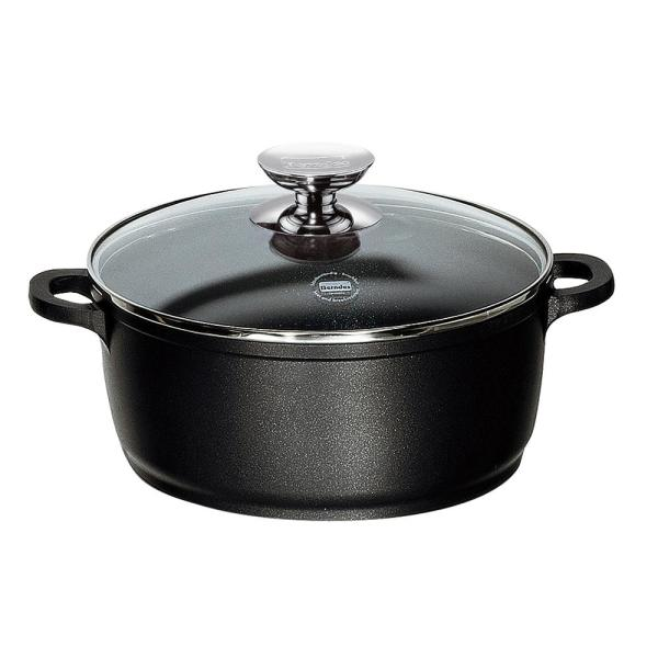 Berndes Vario Click 8.5 in. /2.5 Qt. Induction Round Dutch Oven with Lid Black