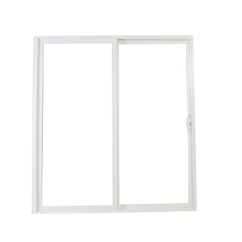 American Craftsman 72 in. x 80 in. 50 Series White Vinyl Right-Hand ...