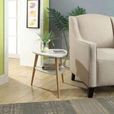 Jellybean White Accent Table