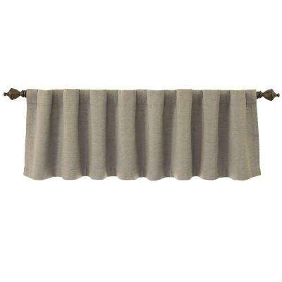 National Sleep Foundation Room Darkening 18 in. L Polyester Valance in Grey