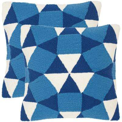 Abstract Puzzle Soleil Square Outdoor Throw Pillow (Pack of 2)