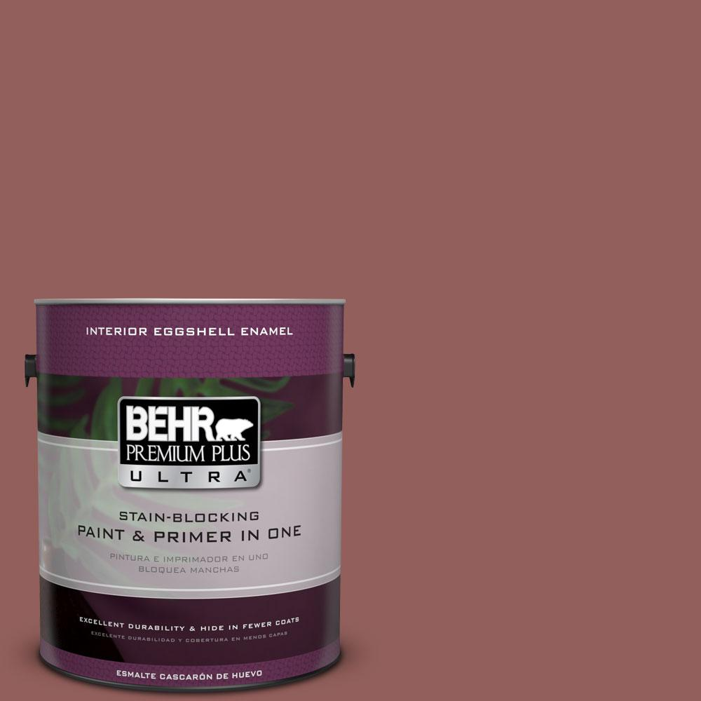 1 gal. #ICC-73 Brick Hearth Eggshell Enamel Interior Paint and Primer