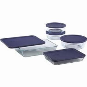 Click here to buy Pyrex 10-Piece Bakeware Set by Pyrex.