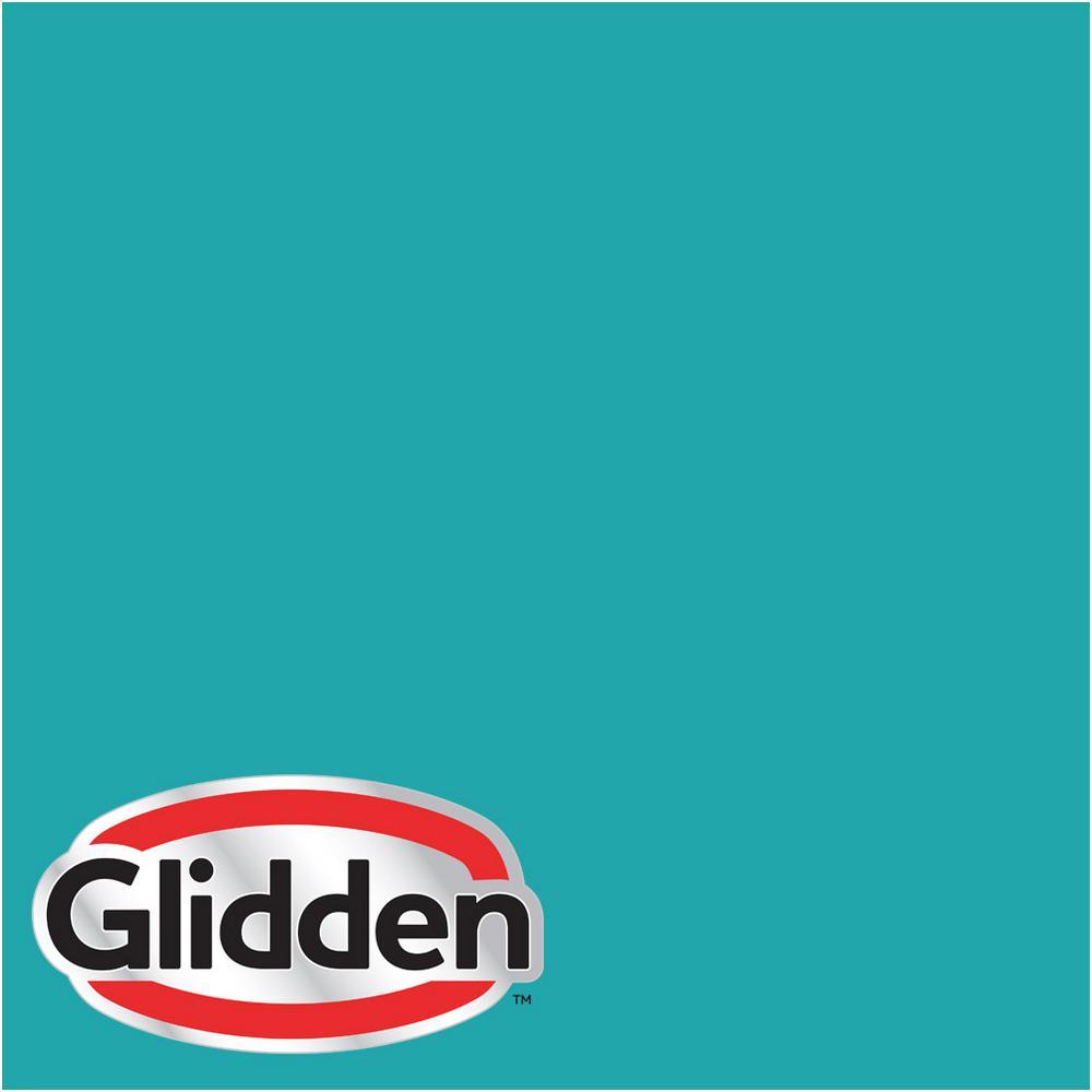 Glidden Premium 1 Gal Hdgb14 Marine Blue Semi Gloss Latex Exterior Paint
