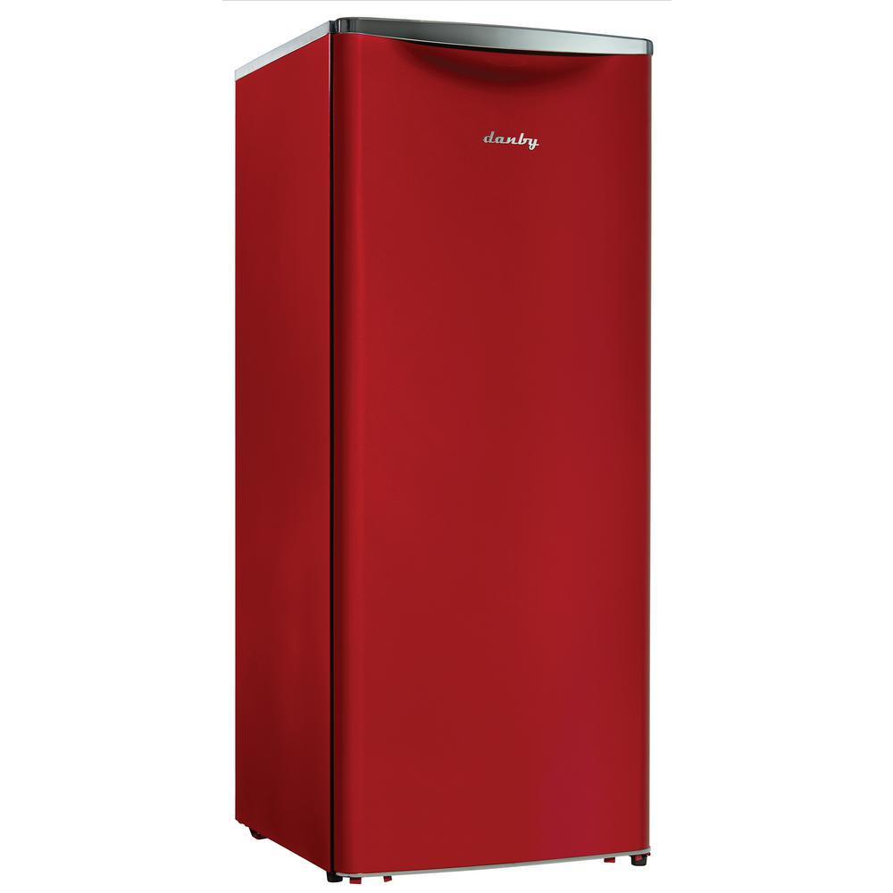 Danby Contemporary Classic 24 in. W 11.0 cu. ft. Freezerless Refrigerator in Red, Counter Depth