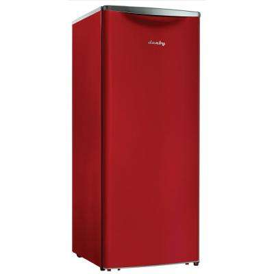 Contemporary Classic 24 in. W 11.0 cu. ft. Freezerless Refrigerator in Red, Counter Depth