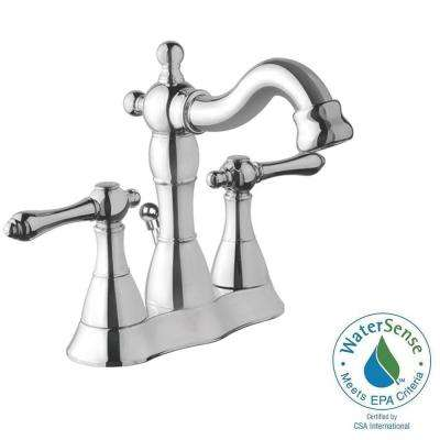 Bellver 4 in. Centerset 2-Handle Mid-Arc Bathroom Faucet in Chrome