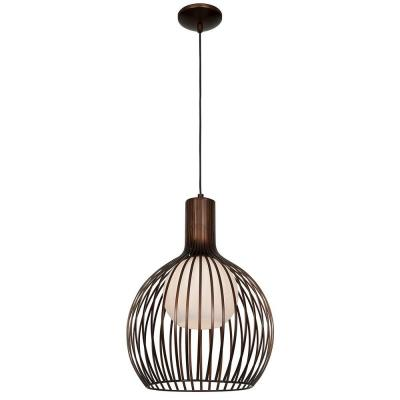 Chuki 1-Light Bronze Pendant with Opal Glass Shade