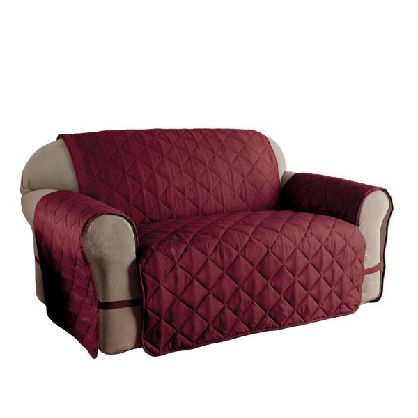 Innovative Textile Solutions Microfiber Solid Ultimate XL Burgundy Sofa