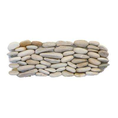Standing Pebbles Grotto 4 in. x 12 in. x 15.875mm - 19.05mm River Rock Mesh-Mounted Mosaic Wall Tile (5 sq. ft. / case)