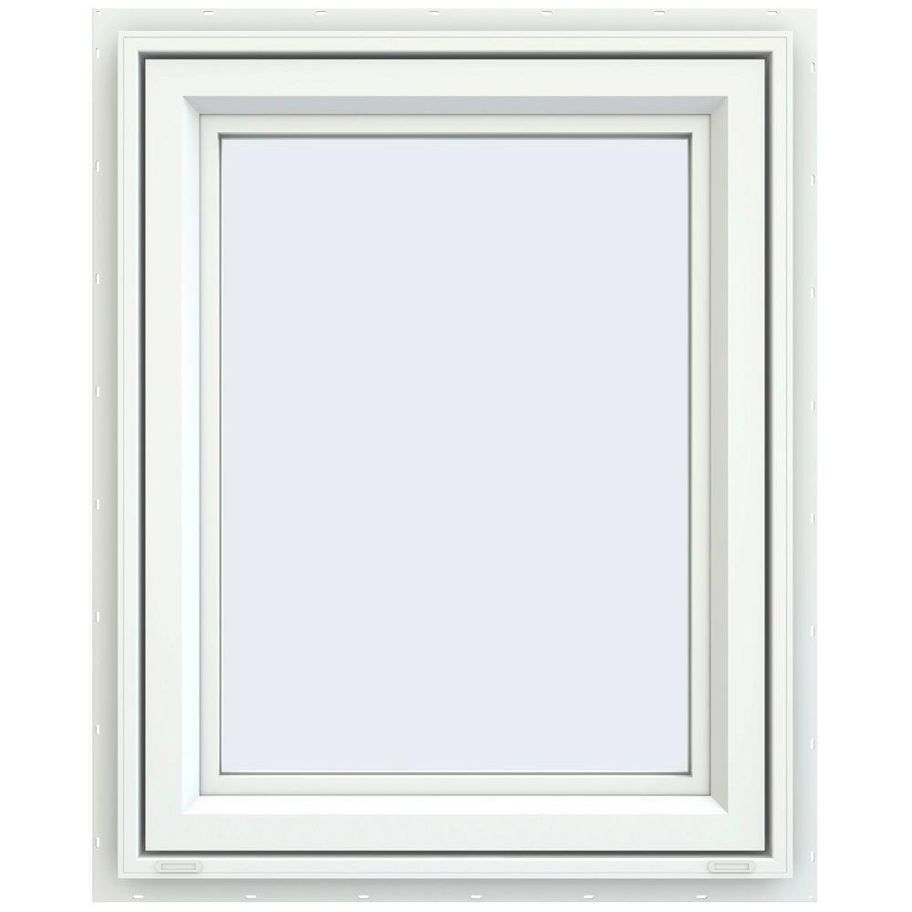 29.5 in. x 35.5 in. V-4500 Series Left-Hand Casement Vinyl Window - White