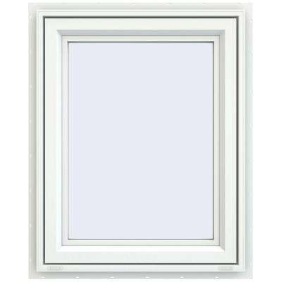 29.5 in. x 35.5 in. V-4500 Series White Vinyl Right-Handed Casement Window with Fiberglass Mesh Screen