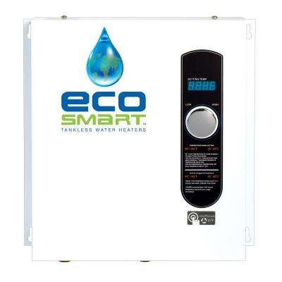 27 kW Self-Modulating 5.3 GPM Electric Tankless Water Heater with Flow Control