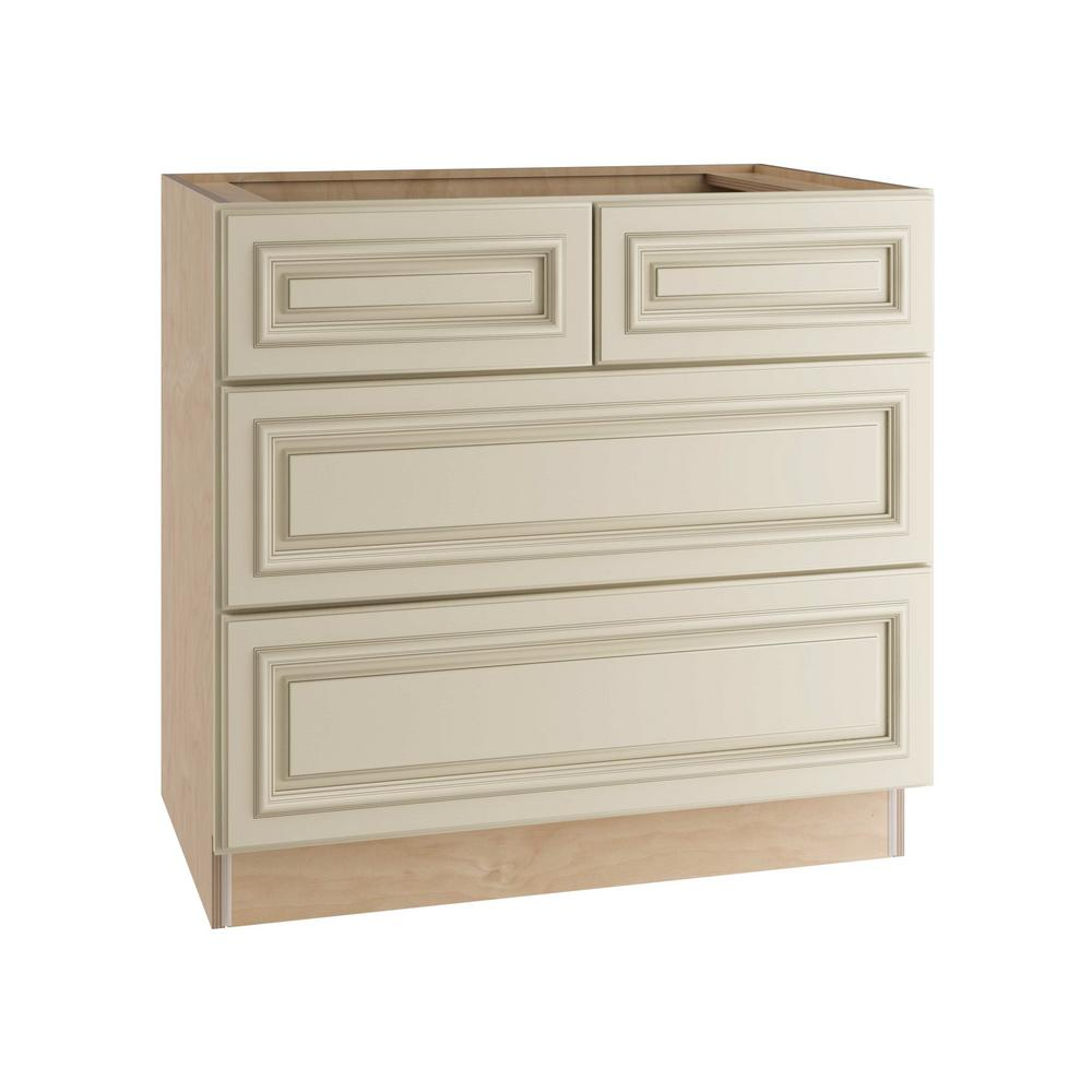 Holden Assembled 36x34.5x24 in. 4 Drawers Base Kitchen Cabinet in Bronze