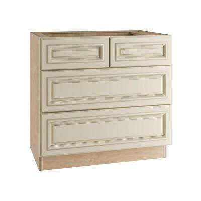 Holden Assembled 36x34.5x24 in. 4 Drawers Base Kitchen Cabinet in Bronze Glaze