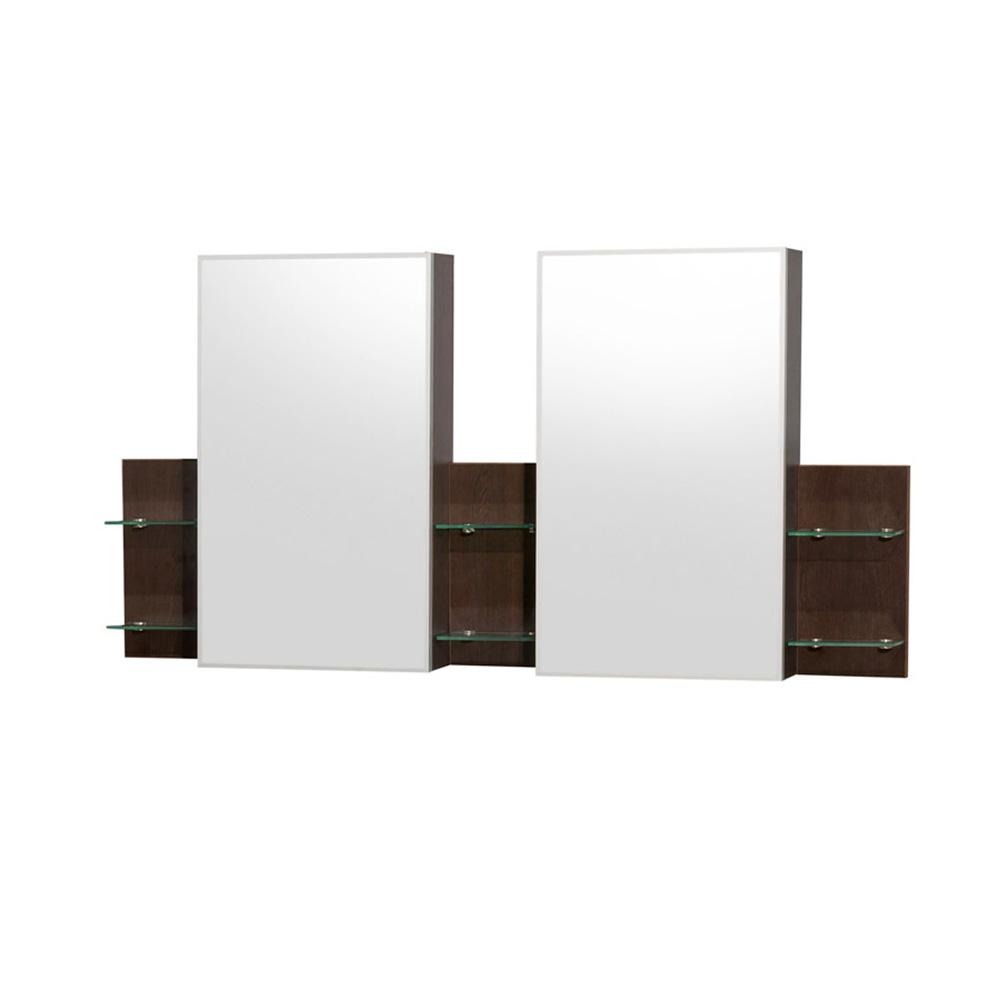 Wyndham Collection Amare 60 in. W x 30 in. H Framed Wall Mirror in Espresso