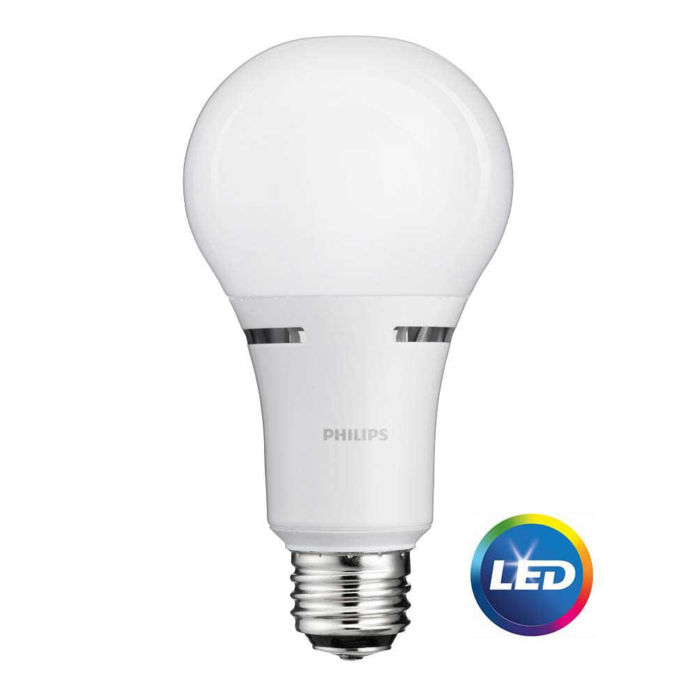 Philips 50 100 150w equivalent soft white 3 way a21 non dimmable led light bulb 465146 the 3 way light bulbs