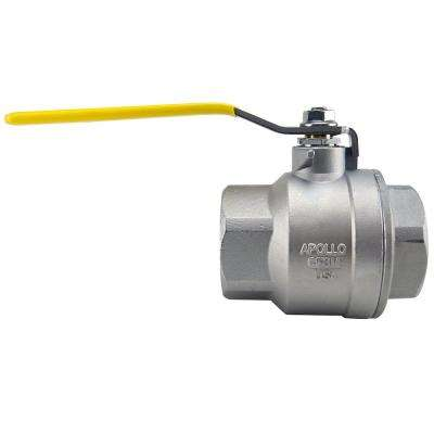 2 in. Stainless Steel FNPT x FNPT Full-Port Ball Valve