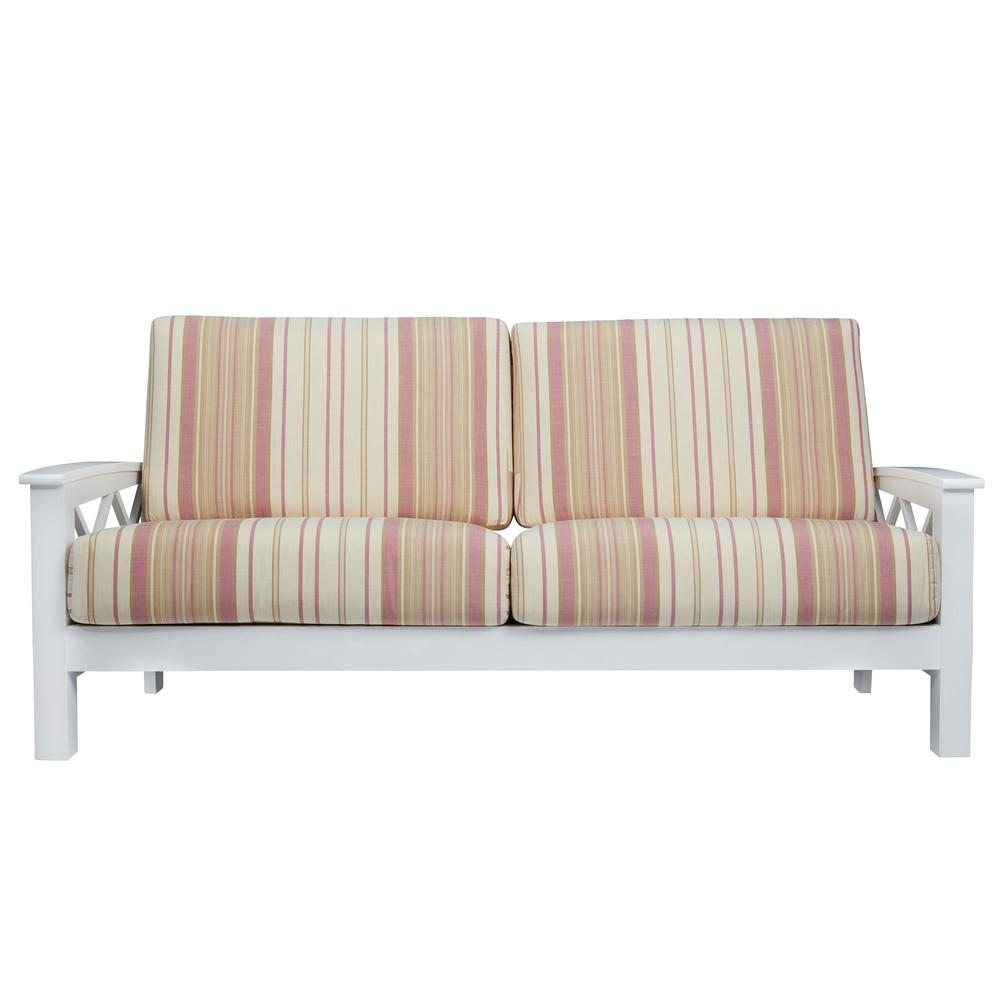 bench appeal elegant cushioning inspired loveseat foam its wood features engineered pin polyurethane banquette victorian this or frame with gray an