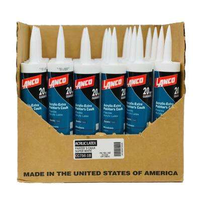 10.1 oz. White Acrylic Latex Painters Caulk  (24-Pack)